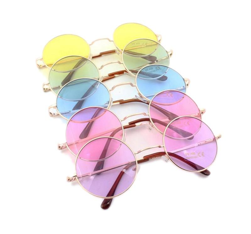 9a092fb5d80e Круглые очки от солнца с тонкой металлической оправой и цветной линзой (в  наличии салатовые, · zoom in