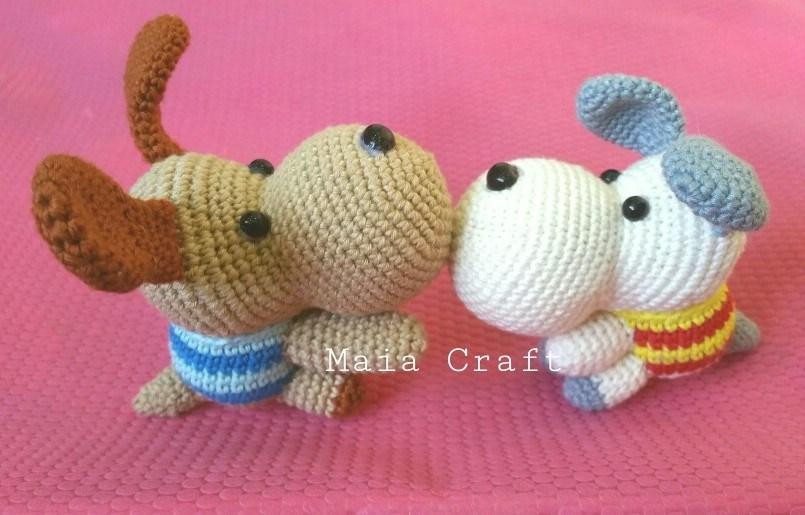 собачка амигуруми крючком схема вязания игрушки Amiguroom