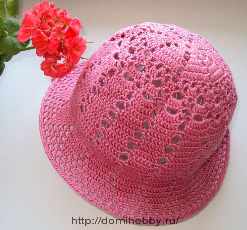 летняя шляпка крючком вязание постила