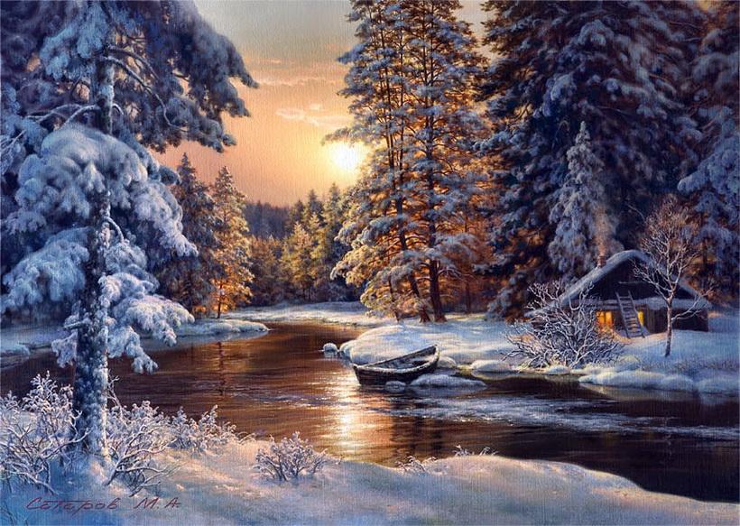Зимние пейзажи и открытки