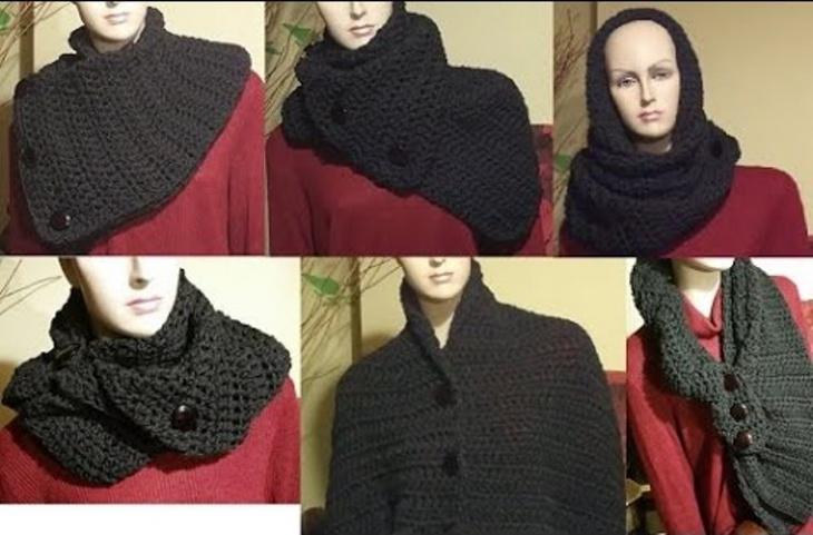 как носить широкий вязаный шарф шали накидки бактус и тд постила