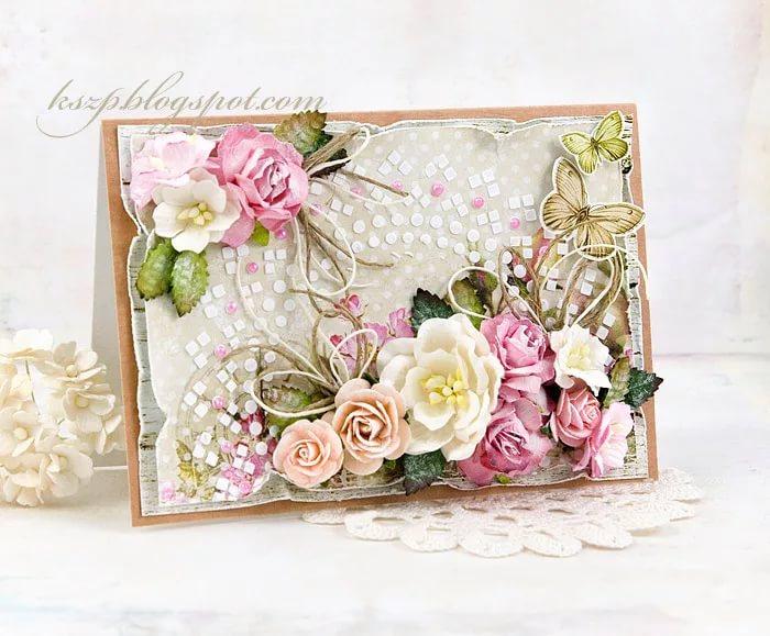 Поздравительные, открытка для букета цветов скрапбукинг