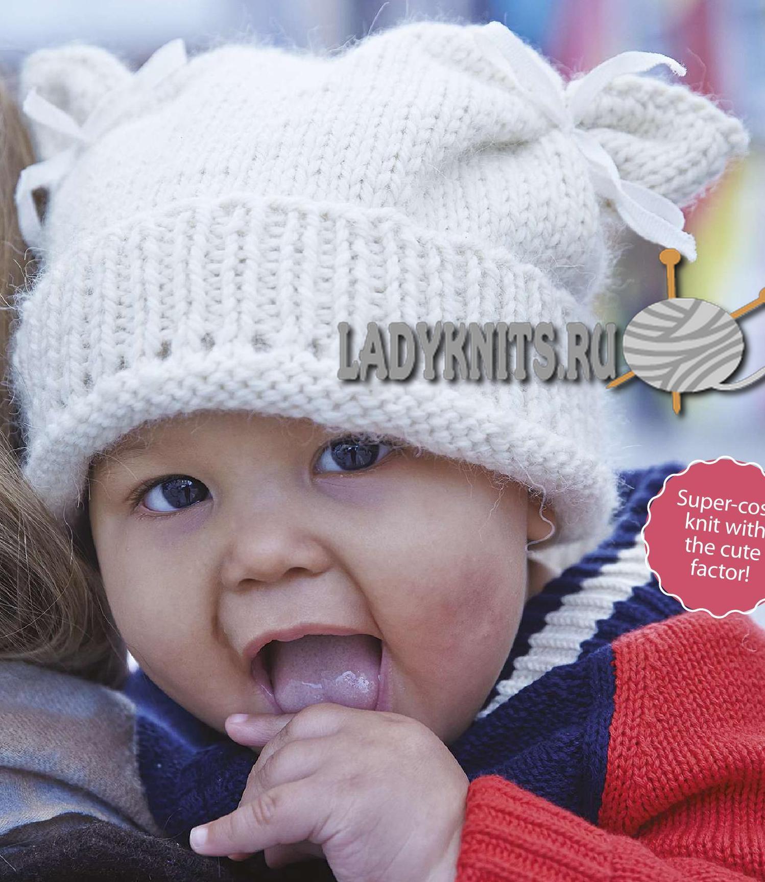 вязание спицами простой детской шапочки маленький ягненок