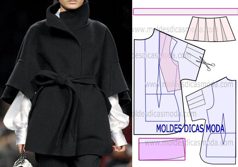 чертой выкройки пальто женское короткое фото контровой свет