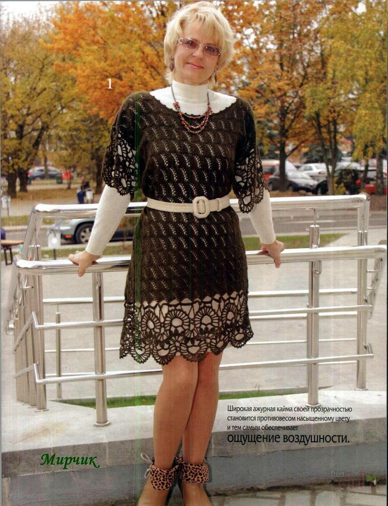 fc9e3598900 Как связать красивое женское платье  Схемы вязаного платья для ...