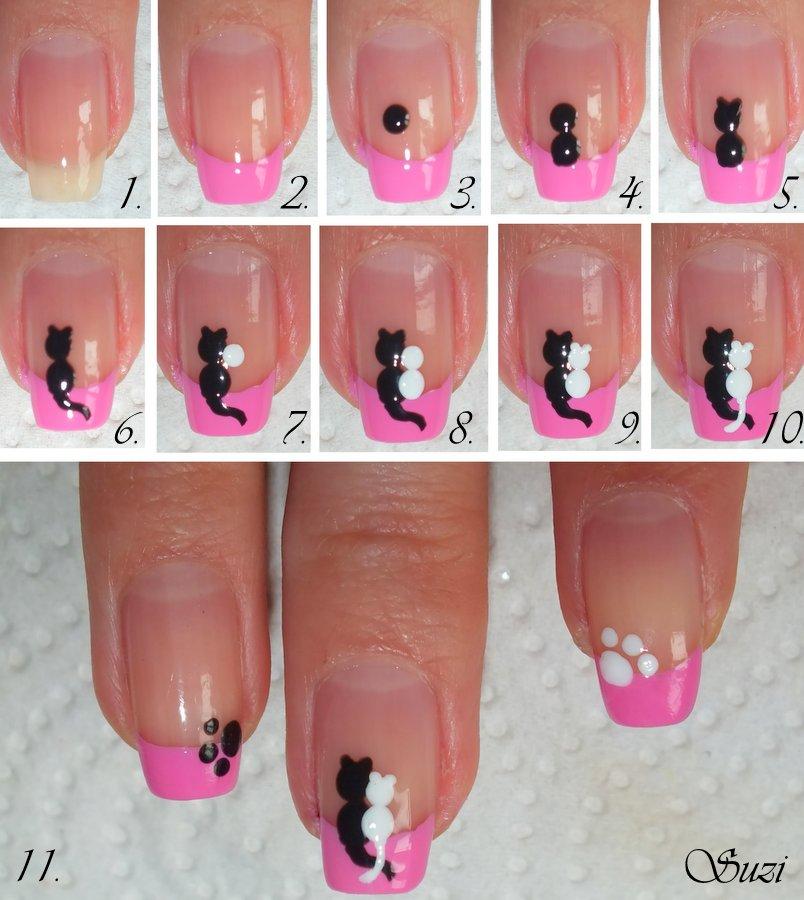 Дизайн ногтей фото пошаговая инструкция