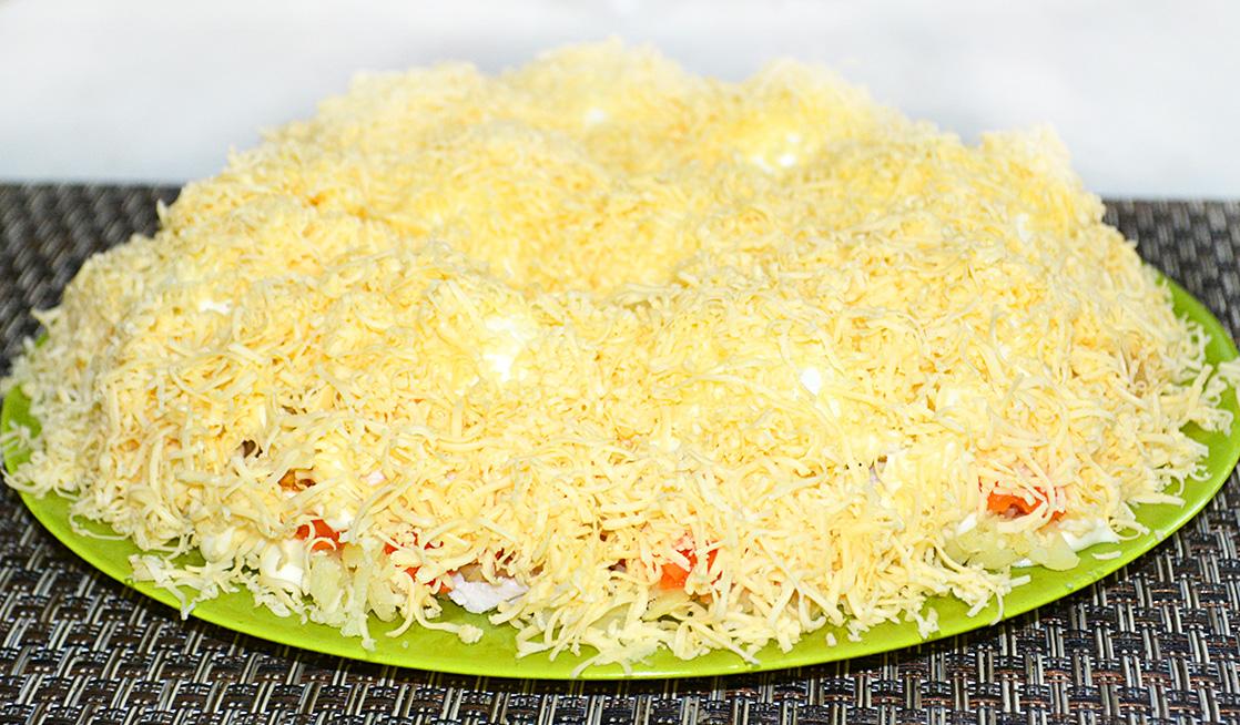Салат снежные сугробы с фото пошагово