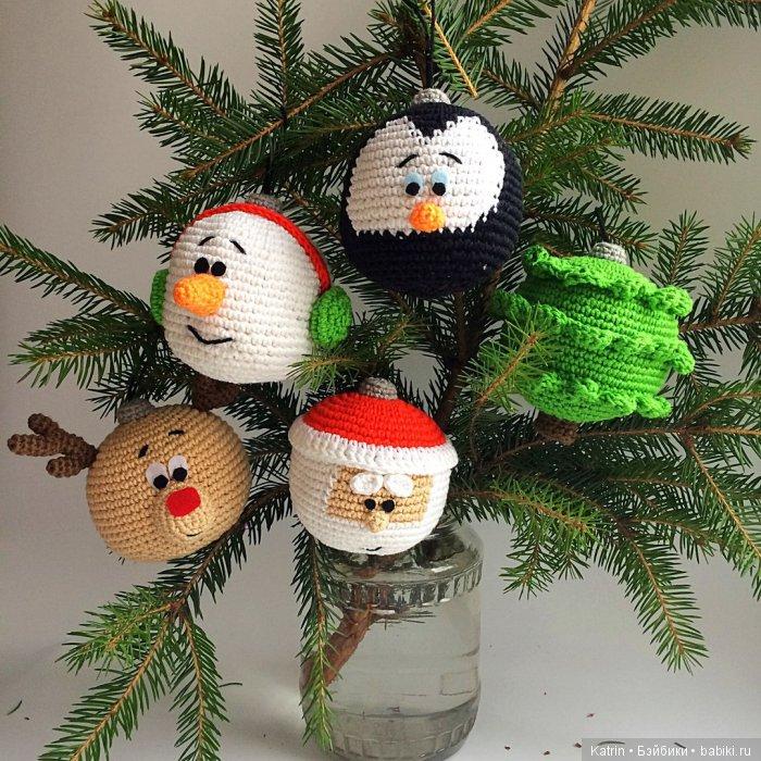 шарики на елку вязание крючком с описанием вязание игрушек схемы