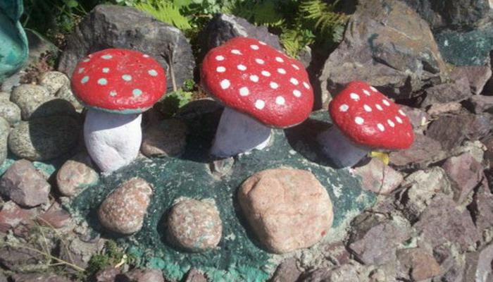 Рисунки на камнях своими руками для сада фото 175
