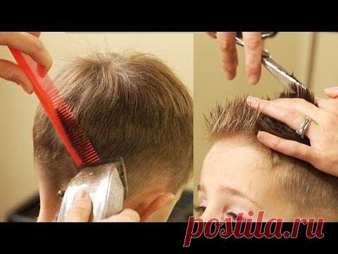 Haircut with taper
