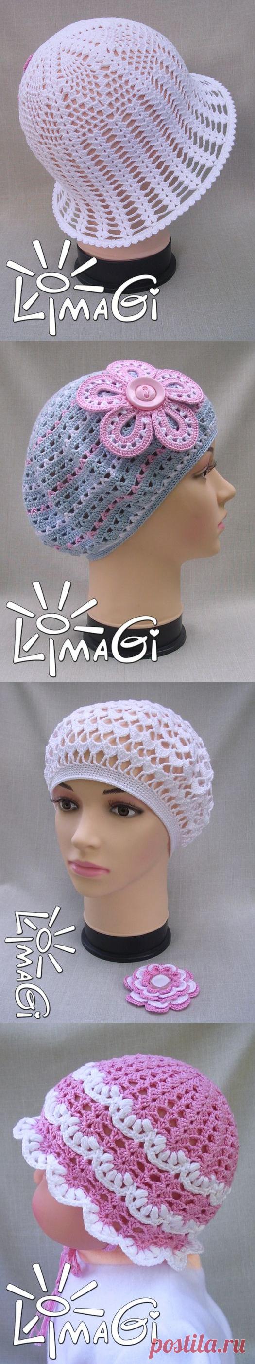 Подборка шапочек крючком от LimaGi