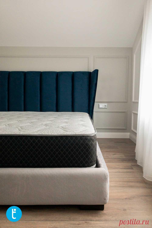 Мягкая кровать Монса в интерьере заказчика.
