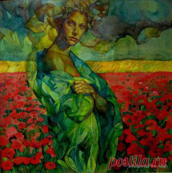 ART MUSE 57: Elizabetta Trevistan,Italy,Painting,artodyssey1.blogspot.com