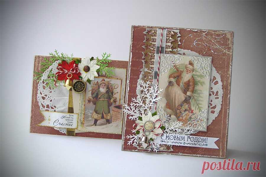 Скрапбукинг открытки новогодние мк