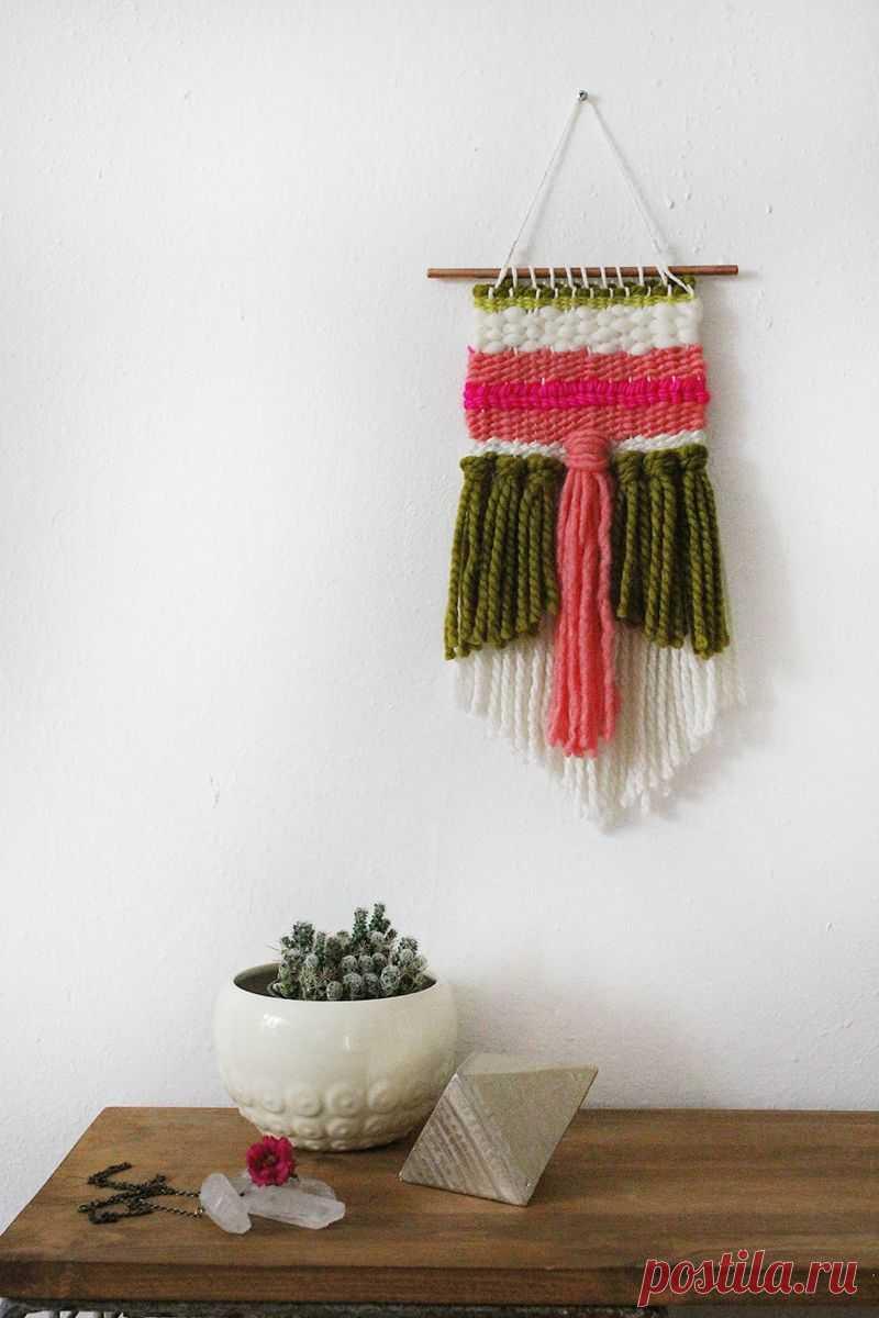 Совмещение ткачества и вязания. Оригинальные работы + МК — Делаем руками