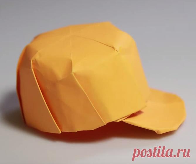 Как сделать из бумаги кепку с козырьком схема