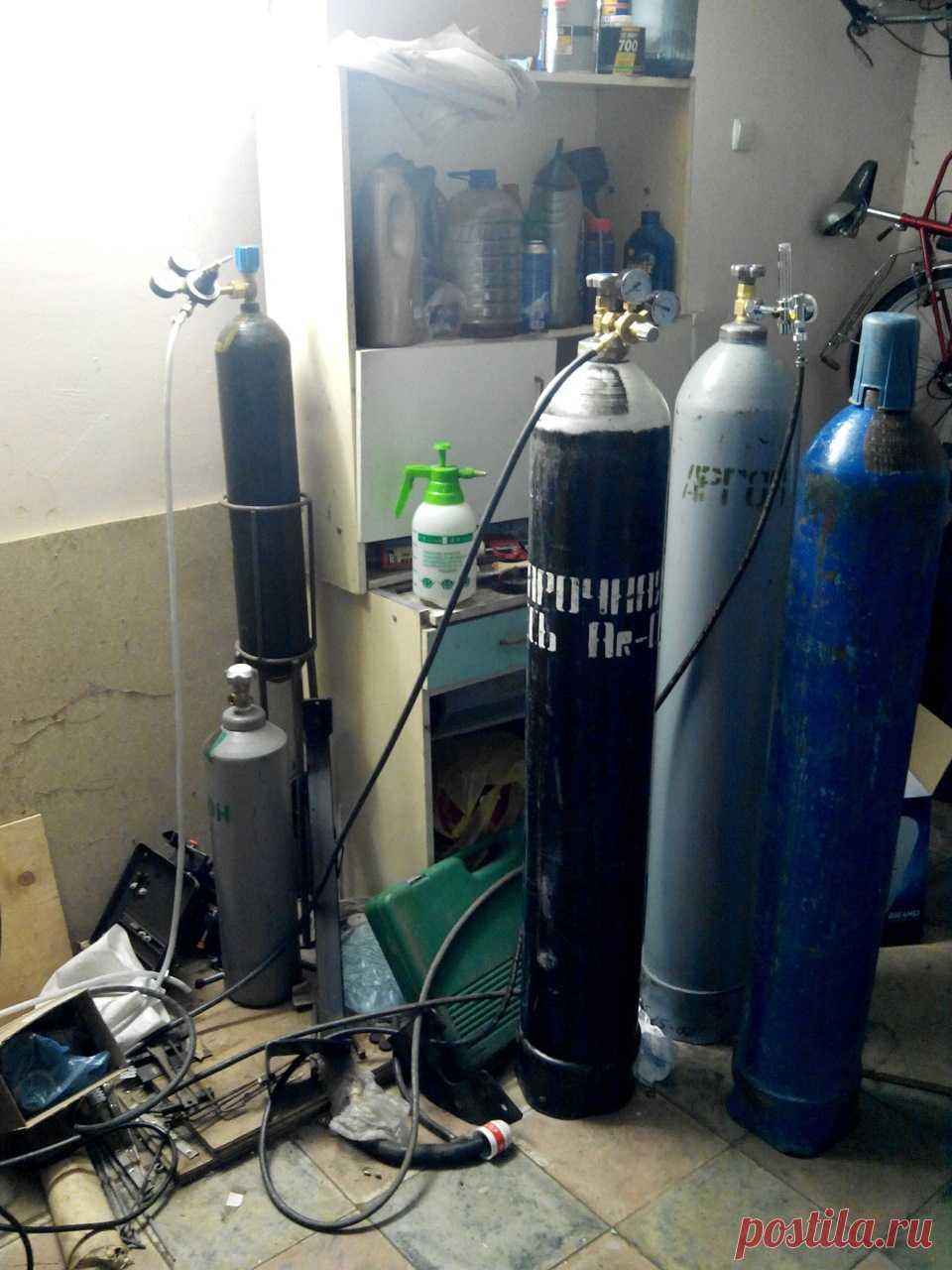 Технические газы для электродуговой сварки: баллоны, регуляторы — DRIVE2