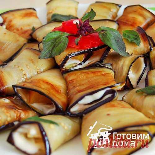 Рулетики из баклажанов - пошаговый рецепт с фото на Готовим дома