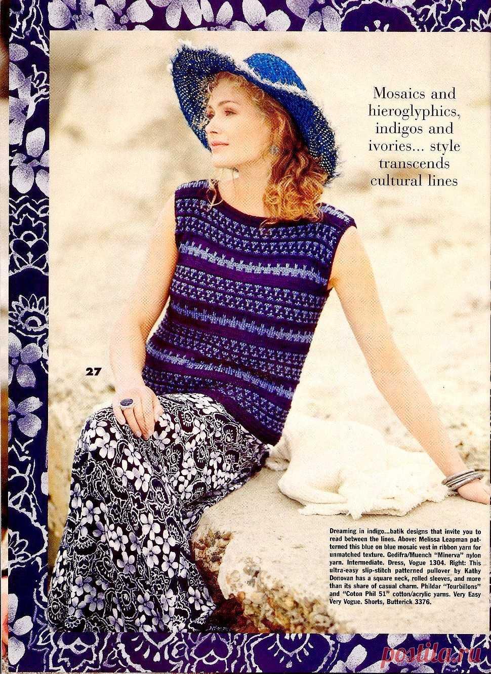 Vogue Knitting Spring-Summer 1994  | Zeitschriften | Постила