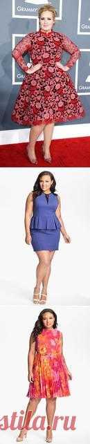 Модные платья для полных 2013