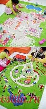 Ковер с полем для детской игры