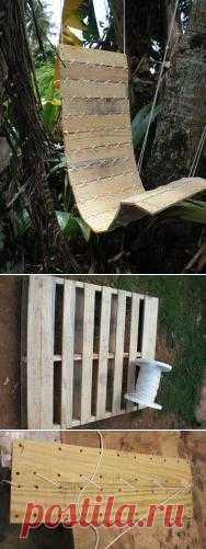 Кресло-гамак из деревянного поддона