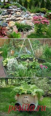 Дизайн сада своими руками - фото
