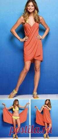 Пляжное платье: раз, два, три. Попробуйте