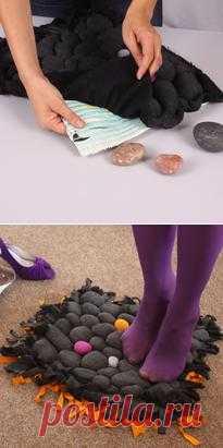 Как сделать массажный коврик. Мастер-класс с фото