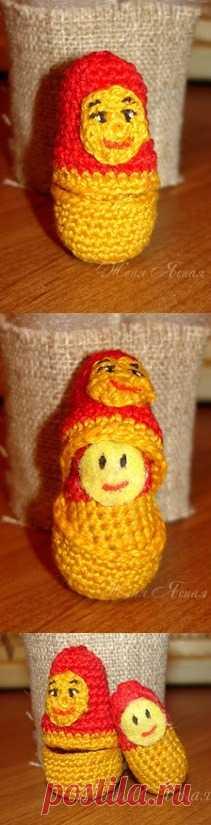 Идея вязаной матрешки! (Ссылки на тему матрешек по клику на картинку).
