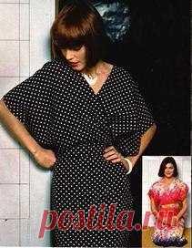Женское платье с запахом: выкройка для кройки и шитья