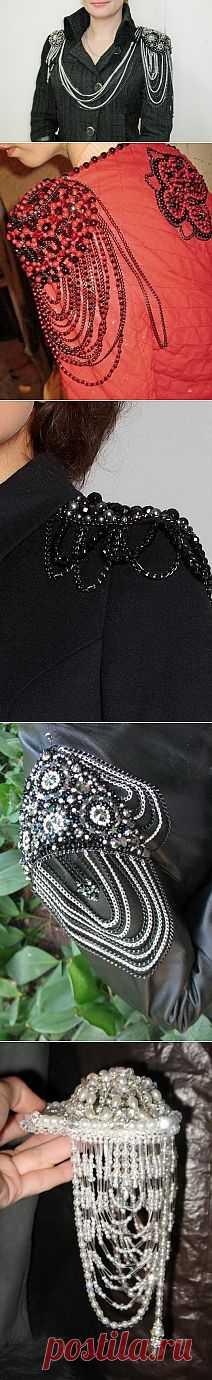 Бисерно-цепочные эполеты (подборка) / Аксессуары (не украшения) / Модный сайт о стильной переделке одежды и интерьера