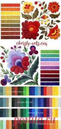 Сочетание цветов в вышивке на любом изделии