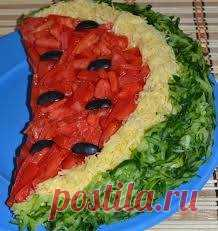 Аппетитный салат «Арбузная долька» / Здоровый аппетит