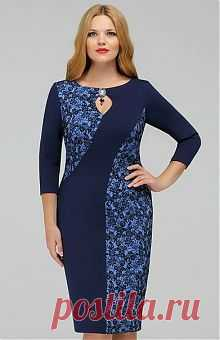 8a1edf7c64df280 Платья для полных женщин: купить женские платья больших размеров в интернет…