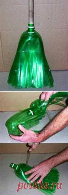 Метла из пластиковых бутылок мастер класс.