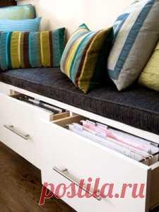 Ящики для хранения в кровати