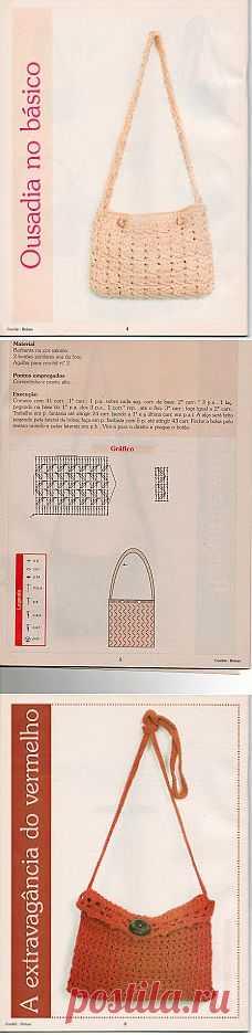 Tita Carré - Agulha e tricot by Tita Carré: Bolsas de crochet - Mais algumas bem fáceis de fazer