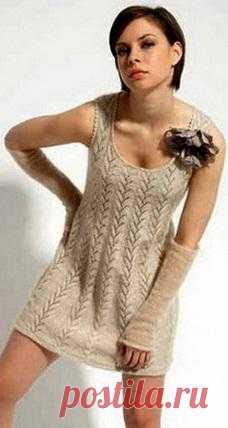 Как связать ажурное платье.