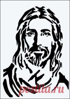 "Jesus Christ Face Christmas 8.5/"" x 11/"" Custom Stencil FAST FREE SHIPPING 145"