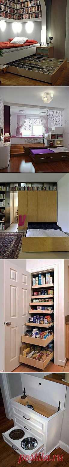 Дополнительные места для хранения вещей в небольшой квартире / Домоседы