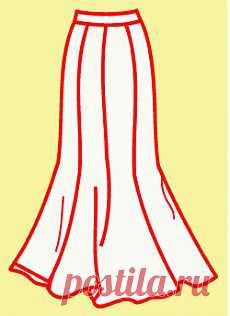 ШКОЛА ШИТЬЯ: Выкройка юбки-годе от Анастасии Корфиати - шьем сами