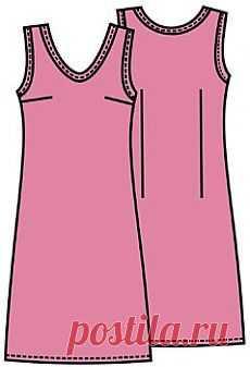 b70e7cd5420 Выкройки  платье простого покроя - Бесплатные выкройки для шитья одежды.  Porrivan