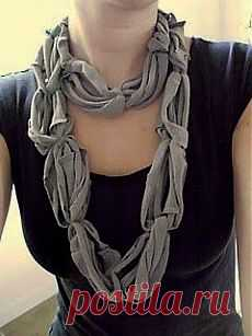 T-shirt scarf | Crafts.