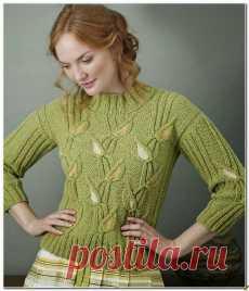 Мужской пуловер вязание схемы с описаниями