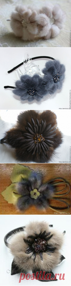 Мастер-класс цветка из меха