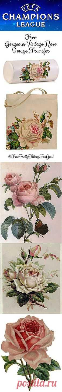 Роза - королева цветов ...декупажные карты.