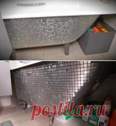 Шикарная ванная с помощью доступных материалов за считанные минуты.