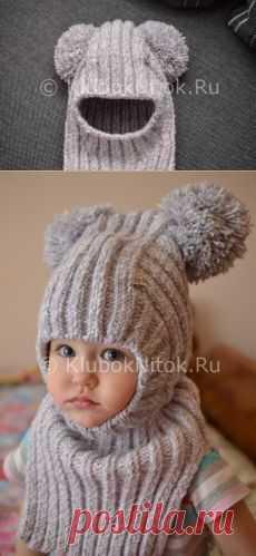 Шапочка-шлем для малышки   Вязание для девочек   Вязание спицами и крючком. Схемы вязания.