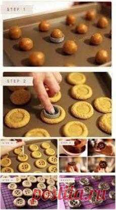 Идея печенек-пуговиц!